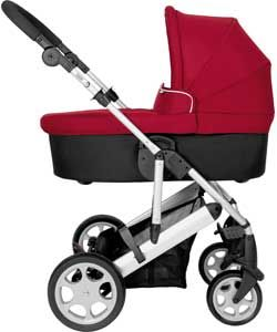 Mamas and Papas Red Pixo Carrycot Package