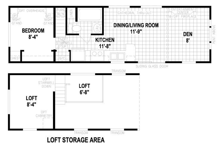 Lockport 12 X Park Model RV Floor Plan | Factory Expo Park Models