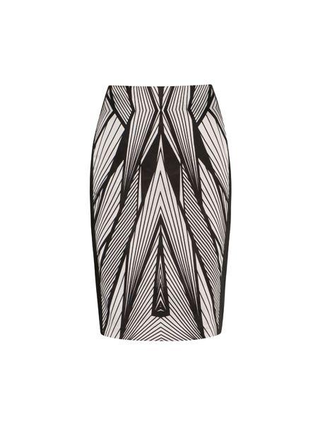 Veronika Maine - Linear Print Skirt $189