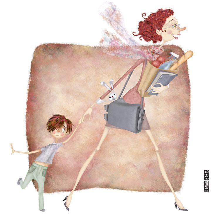 Canan Barış Illustration #illustration #motherandchild #digitalart #momandchild #art #picture #artsy #paint #draw #workingwoman #artist #workingmom #workingmoms #motherandson #cute #editorialillustration #drawing #magazineillustration #womanillustration #draw #characterdesign #artwork #design