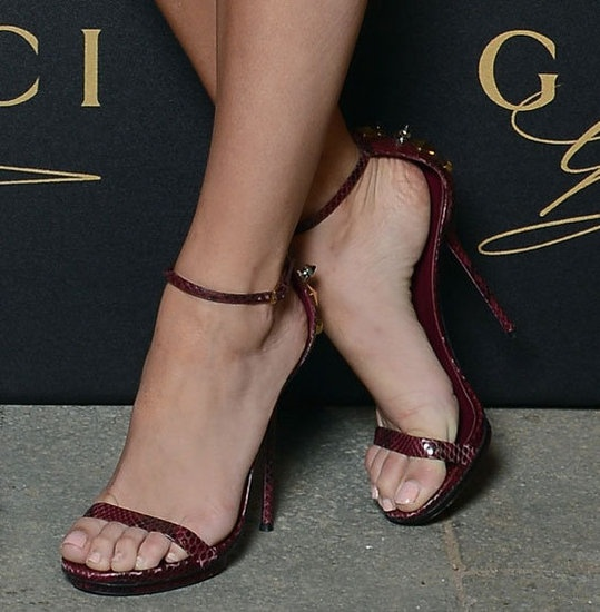 Blake Lively Red Gucci Sandals