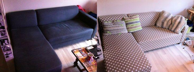Recouvrement de canapé Fait Main / Tissu & agrafeuse bois