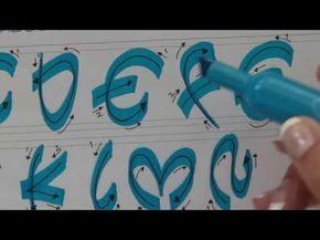 Cómo hacer letra Timoteo paso a paso. En Abecedario y con colores y diseño. - YouTube
