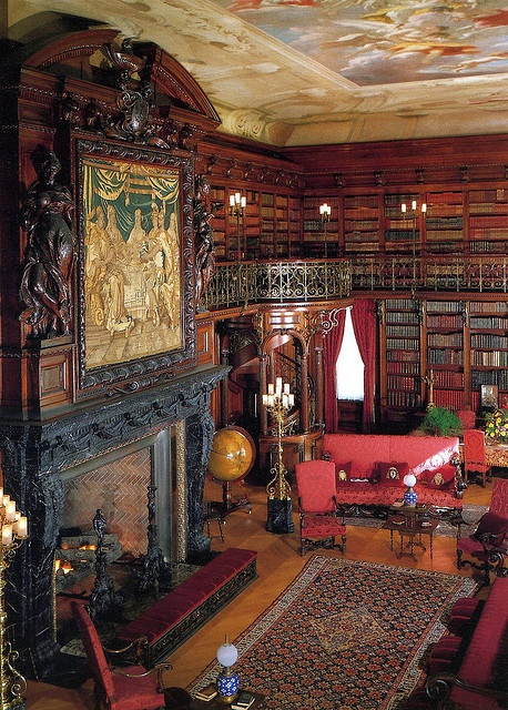 Biltmore House, Ashville, N.C. library. Just a little spot to read...