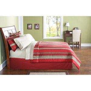 bedding: Red Stripes, Boys Bedrooms, Comforter Sets, Bags Beds, Blue Stripes, Beds Sets, Mainstay Beds,  Day Beds, Kids Rooms