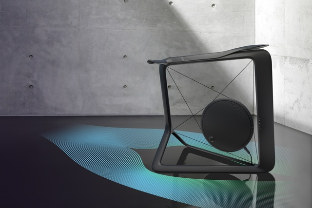 Concept only right now but really cool idea! ... the Vela uses projectors built into the frame to create a Tron-like mesh that moves around you as you cycle. The mesh also changes color and density as you progress through stages of your workout and achieve goals. The Vela's set to make its debut at the Milan Furniture Fair...    #LooksHellaUncomfortable
