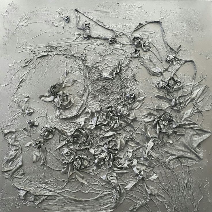 Olga Kolt Silver Soul 1x1m $2400 Mixed Media