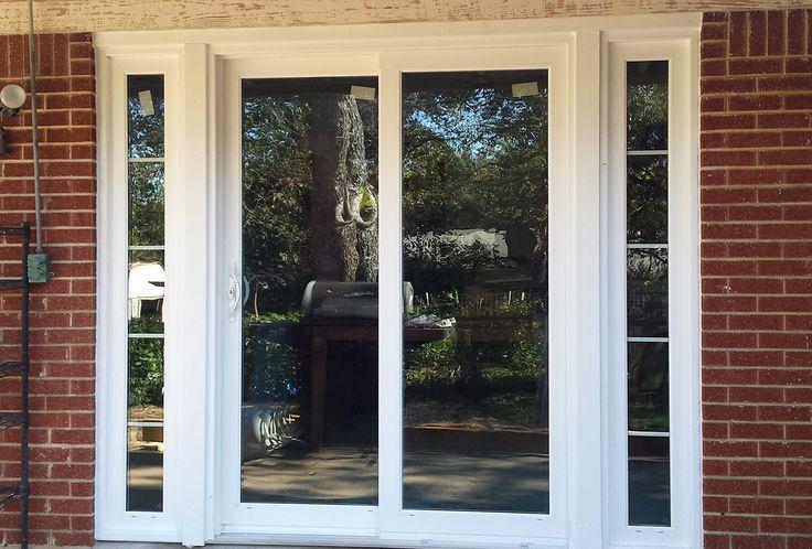 Here's a picture of a sliding glass door with sidelites that we installed for one of our customers. #slidingglassdoors #replacementdoors #zenwindowsaustin  http://zenwindowshouston.com/entry-doors/sliding-glass-door/