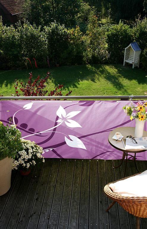 Versenkbarer Fernseher Garten : Individuell verschönern bedruckte Balkonverkleidung von Videx