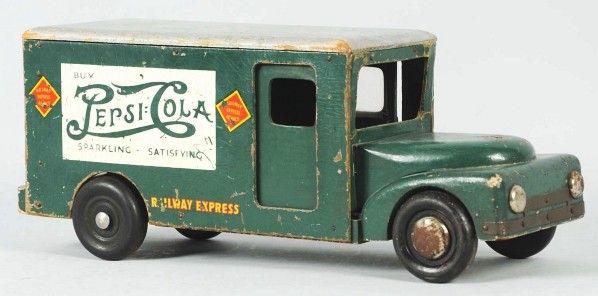 Pepsi Toy Trucks | 1244: Wooden Pepsi-Cola Buddy L Toy Truck. : Lot 1244