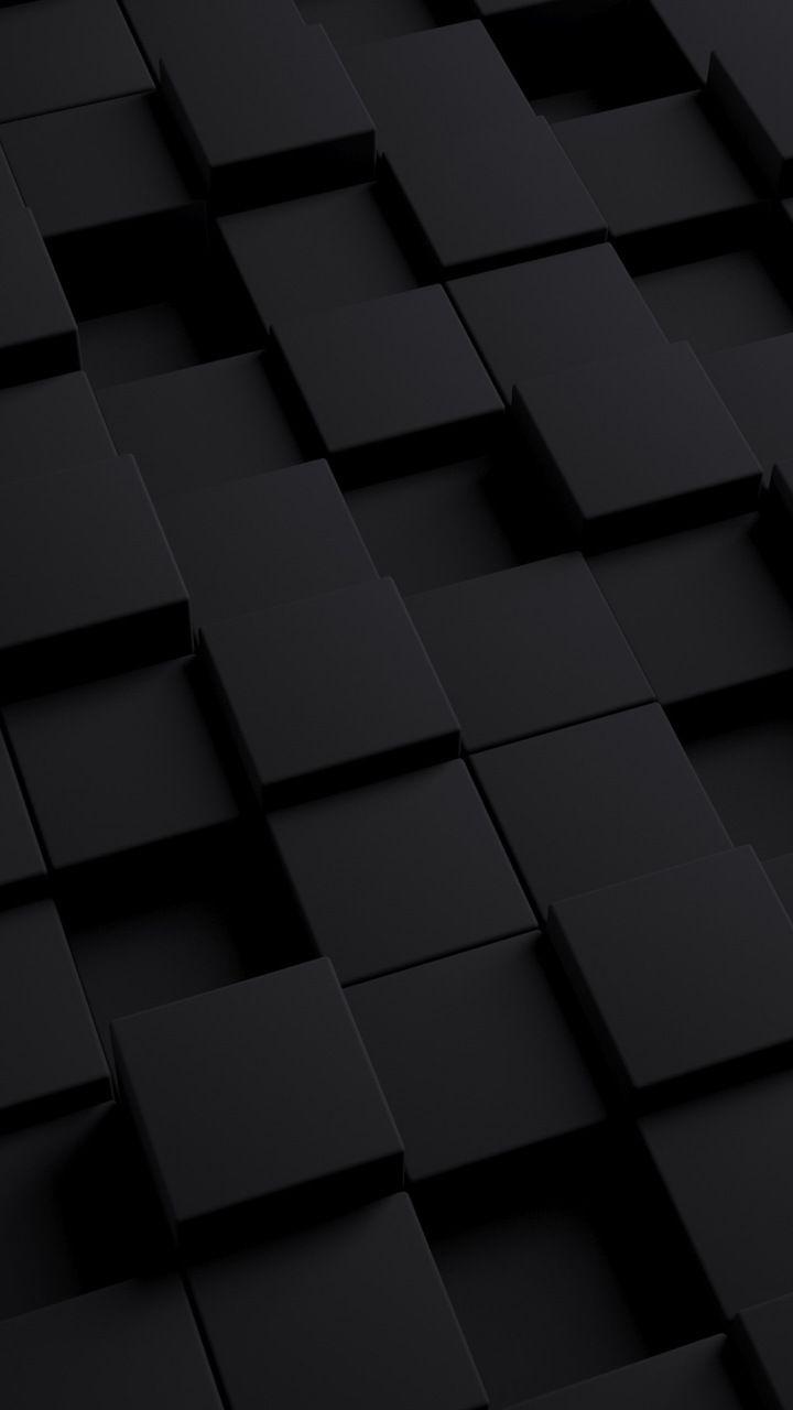 3d Cubes Dark 720x1280 Wallpaper Black Phone Wallpaper Black Wallpaper Iphone Dark Wallpapers