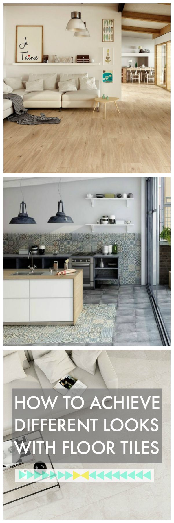 Floor tiles have come a long way and can now be found in many different styles and designs to suit our homes. From wood effect to heritage to glossy marble effect tiles, they are very popular, easy to clean and very durable. Click through for more ideas on using beautiful floor tiles in your home.