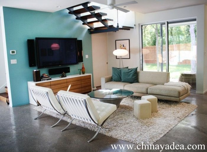 Rollingwood Residence Family Room   Modern   Family Room   Austin    Urbanspace Interiors I Love This Room With The Blue And The Barcelona Chairs .