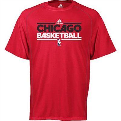 adidas Chicago Bulls ClimaLITE On-Court Heathered T-Shirt