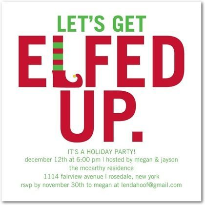 The holidays are just around the corner! Get elfed up at your Christmas party with this adorable and funny invitation.