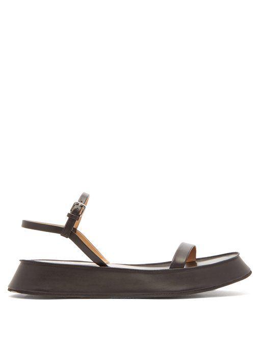 60cff97fdf Jil Sander Leather flatform sandals | WANT in 2019 | Jil sander ...