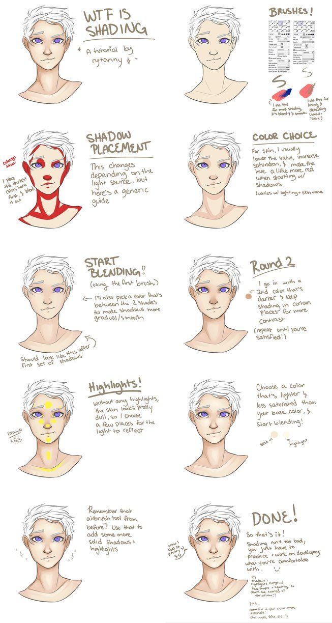 wtf is shading (how to shade skin) by rytanny digital body