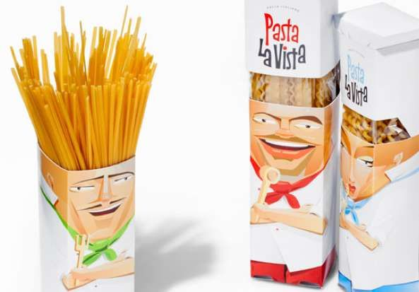 Pasta La Vista Packaging Serves the Sense of Personally Prepared Food #personified #packaging trendhunter.com