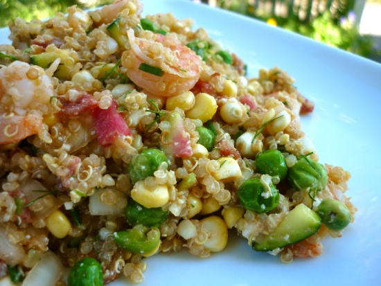 confetti quinoa salad (with bacon jam)