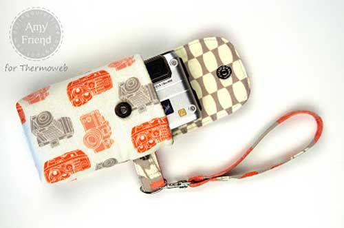 Free Sewing Pattern and Tutorial - Fabric Camera Case