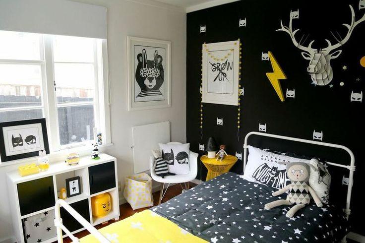 17 mejores ideas sobre cuarto para ni os de batman en for Cuarto negro con gris