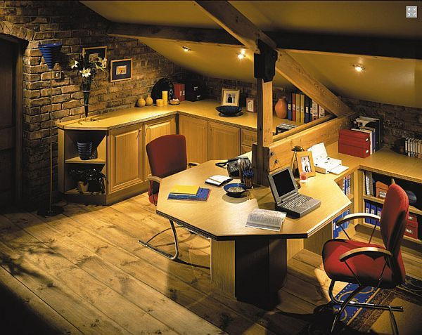 Dual Attic Desk Home Office A Little Dark But Lots Of