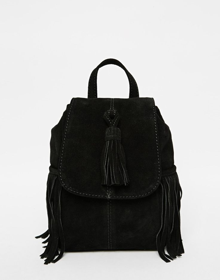 ASOS Mini Suede Backpack With Tassels