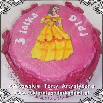 030. Tort księżniczka Bella. Bella the princess cake.