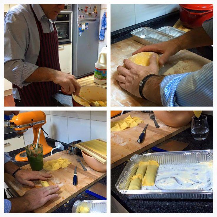 ustamız cannelloni hazırlıyor.