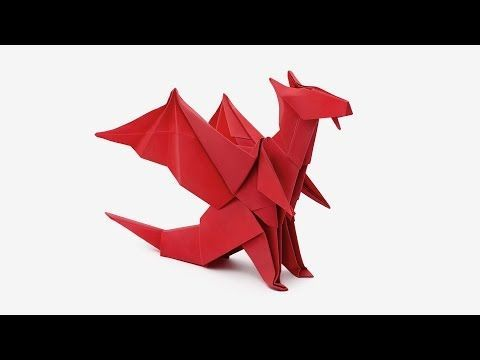 How to Make Red Origami Dragon Video Tutorial