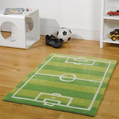 Pippa G Kiddy Play Football Pitch Green Rug 70 x 100cm: Amazon.co.uk: Kitchen & Home