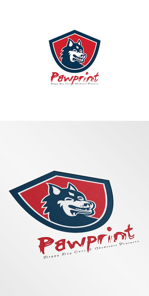 Check out Pawprint Doggy Day Care Logo by patrimonio on Creative Market