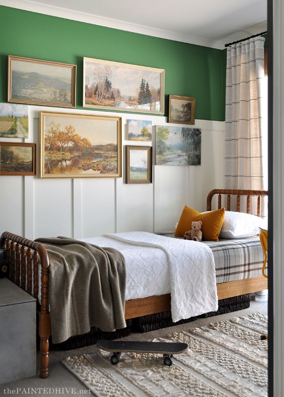 The Painted Hive Page 2 Budget Friendly Diy Interior Decorating And Home Design Ideas Blog In 2020 Lodge Style Bedroom Green Boys Room Boys Room Wall Color