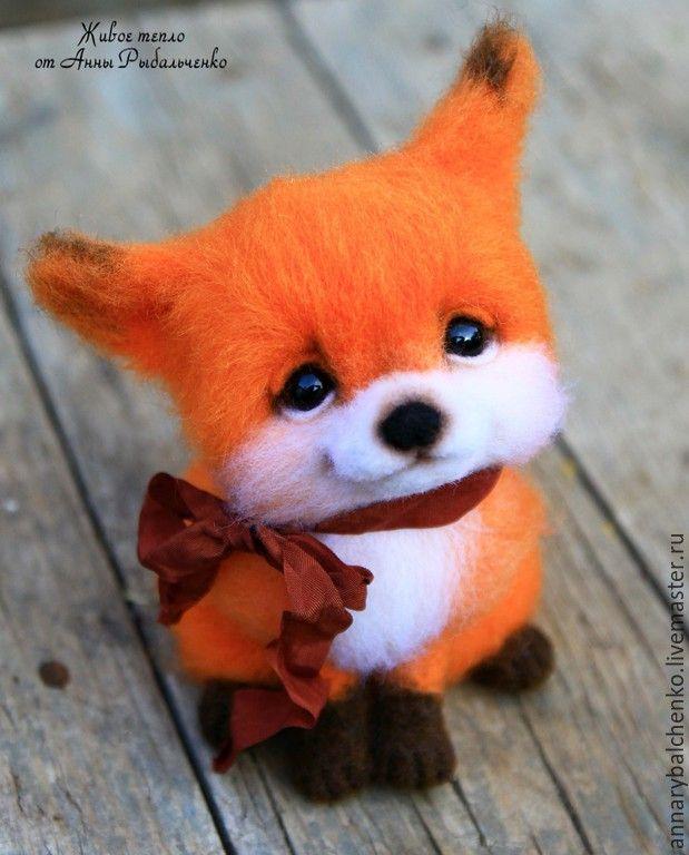 Купить Лисичка Алиса - рыжий, оранжевый, Рыжая, лиса, лисичка, лисенок, лис, валяная игрушка