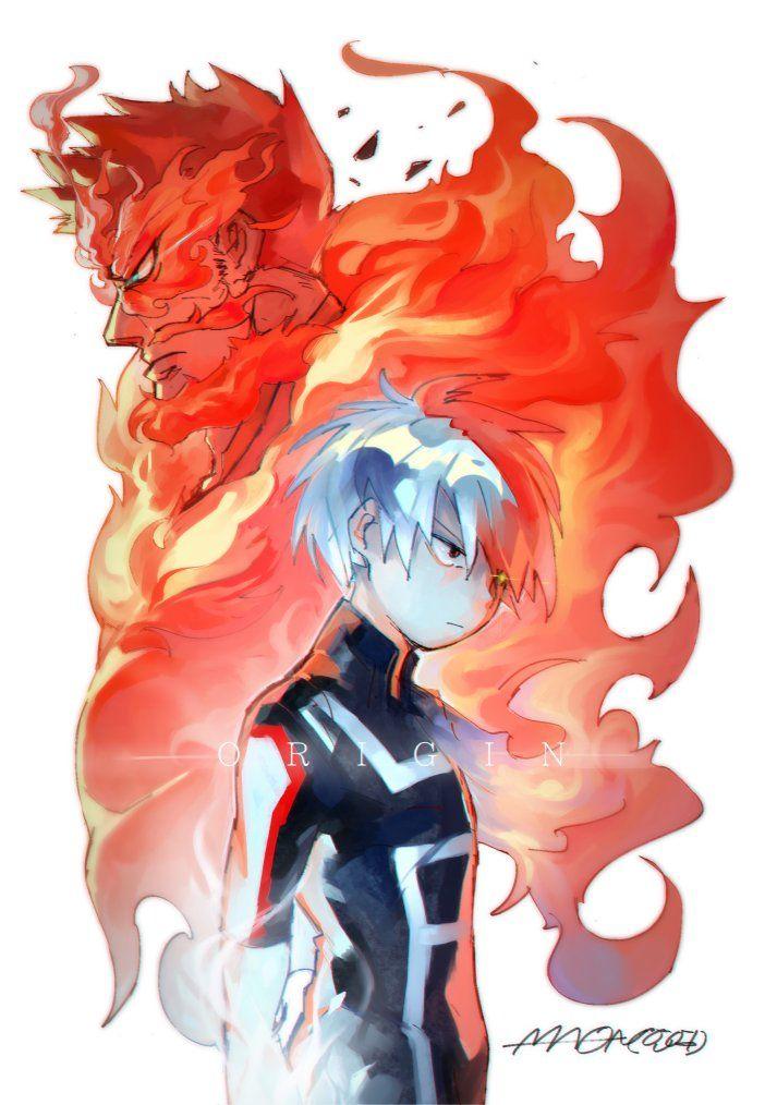 Boku no Hero Academia || My Hero Academia || Enji Todoroki (Endeavor) || Todoroki Shōto.