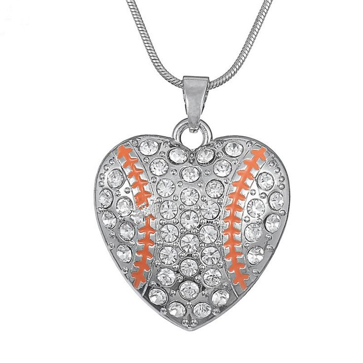 Fashion National wind drops of oil drilling and American hearts softball clavicle necklace