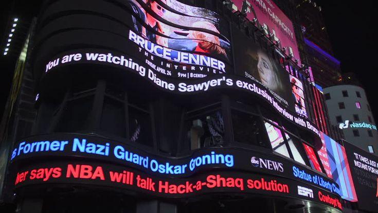 Times Square, New York City. April 24, 2015 - Establishing Shot Of ...