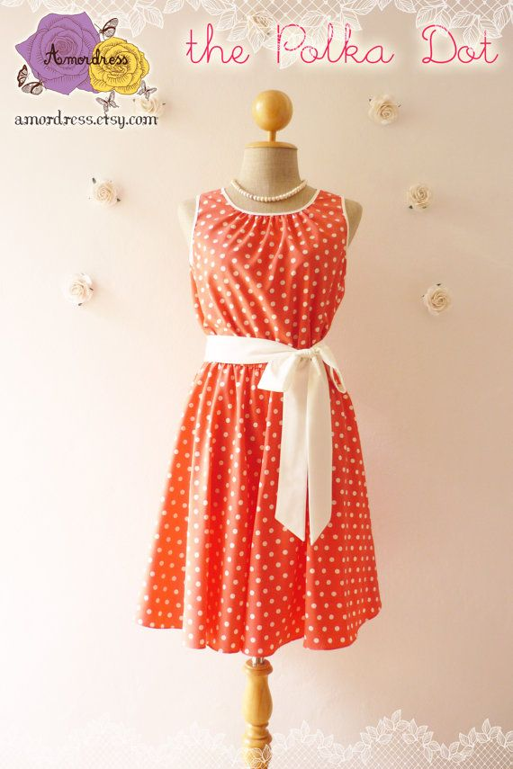 The Polka Dot Dress Sweet Pink Dresswith Polka Dot by Amordress, $45.00