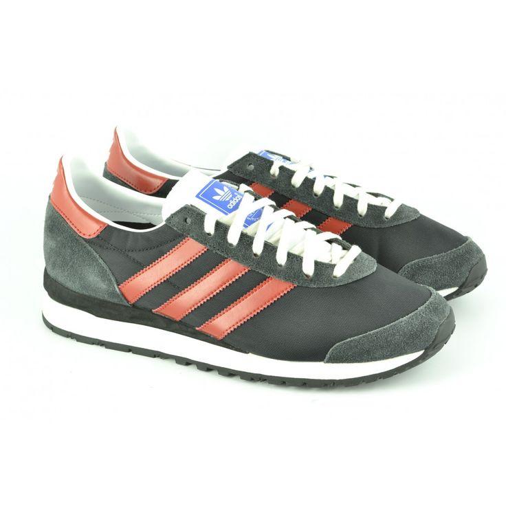 #Zapatillas deportivas de cordón en serraje y nylon Marathon 85 de ADIDAS.