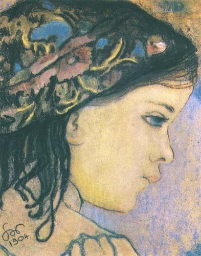 Stanisław Wyspiański - Helenka, daughter of the artist pastel, paper