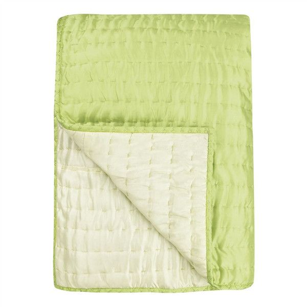 Chenevard Wild Lime & Pale Mint Reversible Quilt & Pillow Cases design... ($595) ❤ liked on Polyvore featuring home, bed & bath, bedding, quilts, silk pillowcase, lime green pillow cases, lime bedding, designers guild bedding and silk bedding