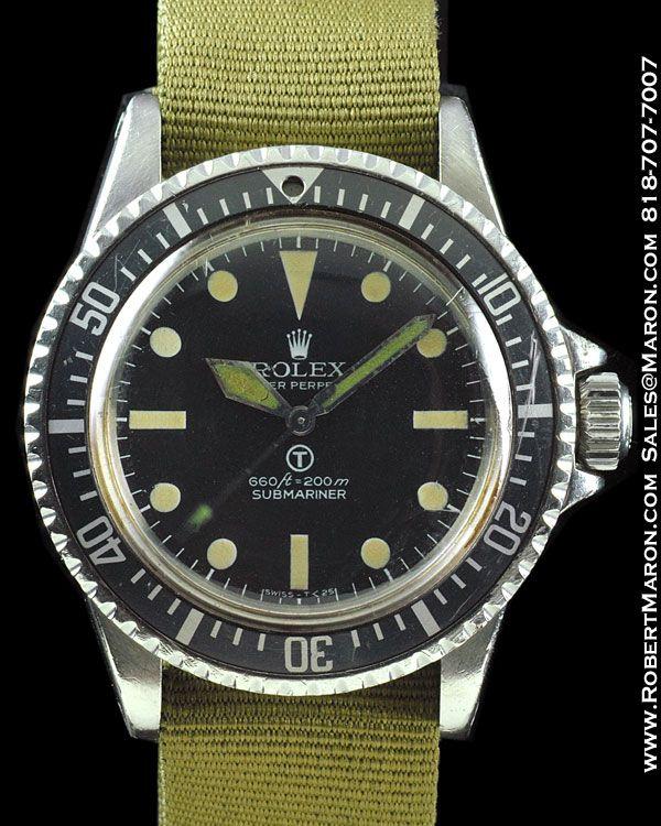 Vintage Rolex Milsub Ref 5513 Submariner British Special