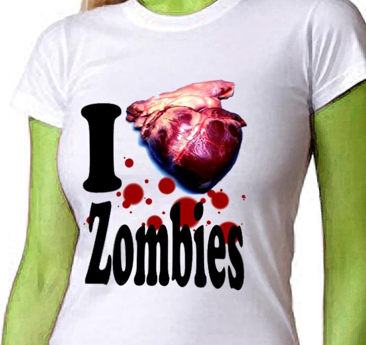 ZOMBIE Love Womens T-shirt I Heart Zombies Ladies Rockabilly Tee Shirt Sizes S  M  L  XL  XXL. $22.00, via Etsy.