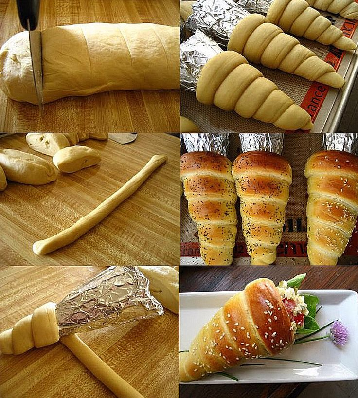 Bread cones, bake as directed