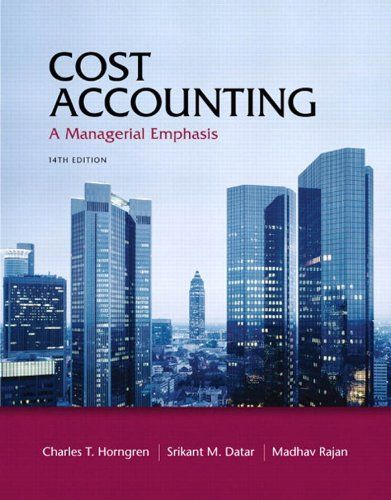 Cost Accounting (14th Edition)   Cost Accounting (14th Edition)  This is the eBook of the printed book and may not include any media, website access codes, or print supplements that may come packaged with the bound book. The text that defined the cost accounting market.     Horngren's  Cost Accounting  defined the cost accounting market and continues to innovate today by consistently integrating the most current practice and theory into the text. This acclaimed, market-leading text e..
