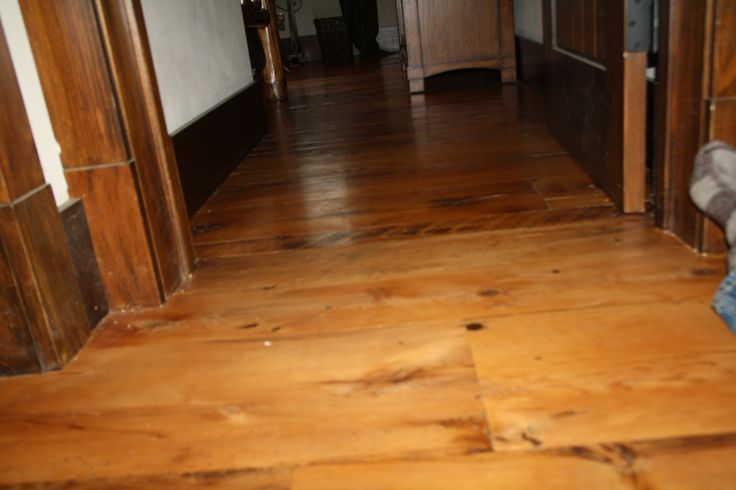 2nd photo of transition from refinished hallway to non refinished flooring in study,... photo taken Jan 21