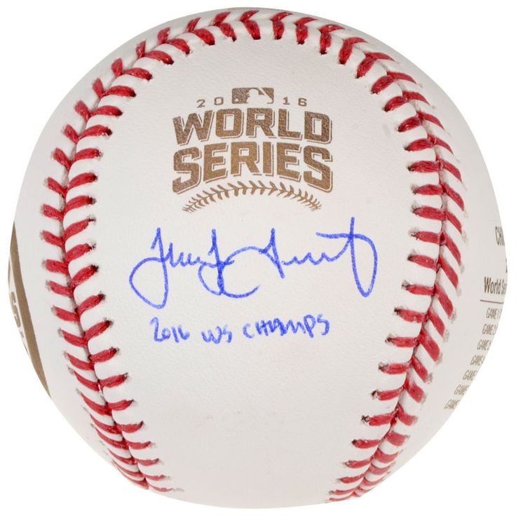 Jake Arrieta Chicago Cubs Fanatics Authentic Autographed 2016 MLB World Series Champions World Series Champs Logo Baseball with 2016 WS Champs Inscription