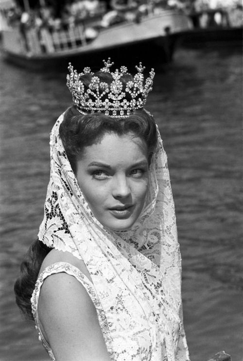 Romy Schneider as Empress Sissi, on location in Venice