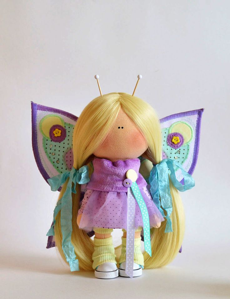 Interior Textile Tilda Doll Butterfly   Кукла nbkmlf текстильная интерьерная Butterfly