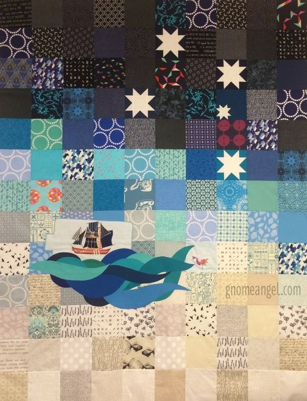 Under the Southern Cross Quilt top by Angie Wilson - GnomeAngel.com